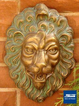 Bronze Löwenkopf Speier