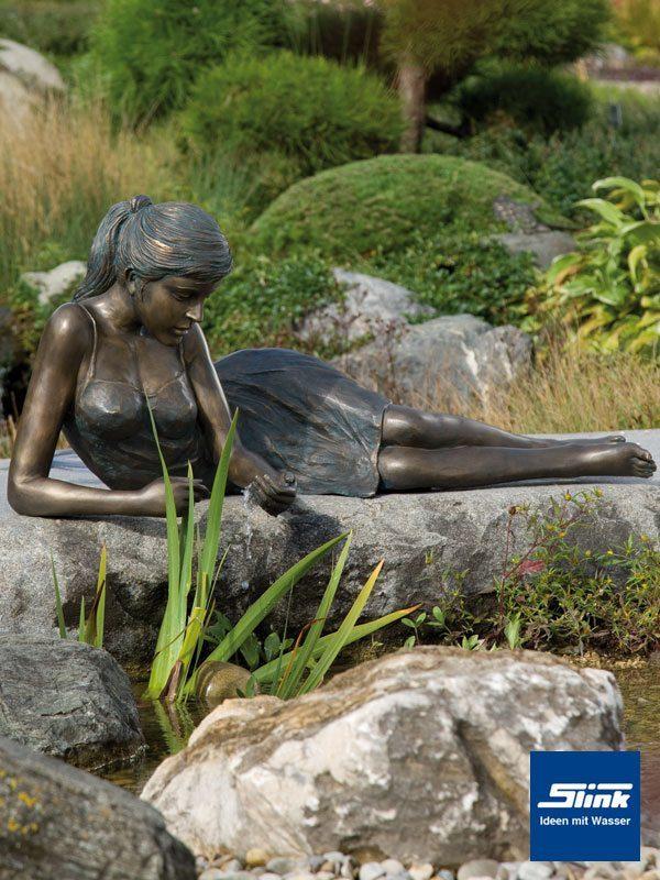 Figur aus Bronze für den Garten