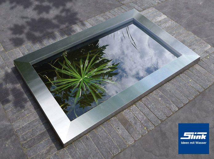 HDPE Wasserbecken mit Edelstahlumrandung 120 x 80 x 45 cm 365 Liter ...
