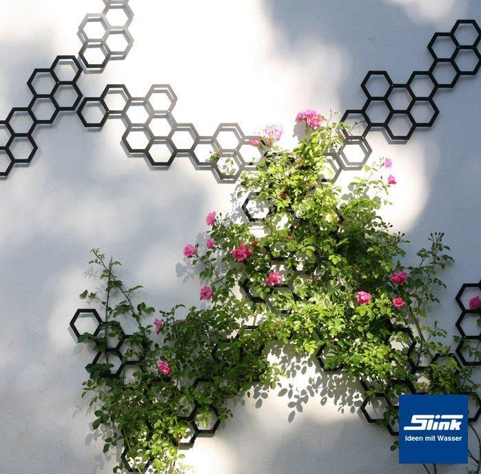 Hexagonales Rankgitter Mittel Slink Ideen Mit Wasser