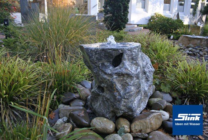 Gartenbrunnen Springbrunnen Ozeanfindling -unikat- Slink | Ideen ... Garten Brunnen Stein Ideen