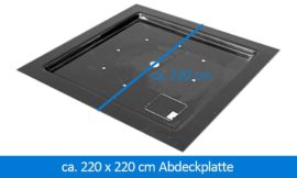 GFK-Abdeckplatte Abdeckung 220 x 220 cm eckig
