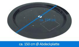 GFK-Abdeckplatte Abdeckung 150 cm rund