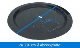 GFK-Abdeckplatte Abdeckung 220 cm rund