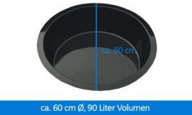 GFK-Teichbecken Wasserbecken rund 66 cm, 35 cm 90 Liter