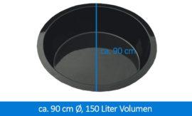GFK-Teichbecken Wasserbecken rund 90 cm, 35 cm 150 Liter