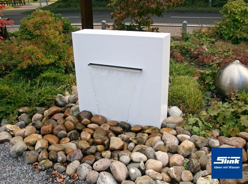 wasserfall aluminium-gartenbrunnen stele ella - slink | ideen mit, Gartenarbeit ideen