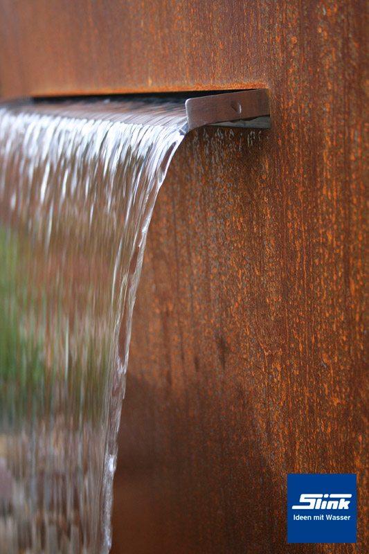 Wasserfall Cortenstahlbrunnen Garten