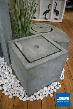 Komplettbrunnen Zink-Kubus-Tisch 60 x 60 x 60 cm