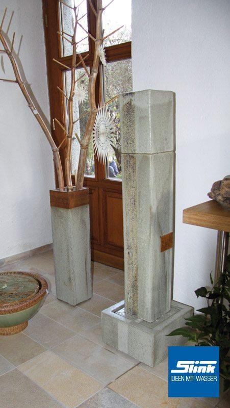 Keramik zimmerbrunnen vierkantkeramik indoor slink ideen mit wasser - Gartenbrunnen keramik ...