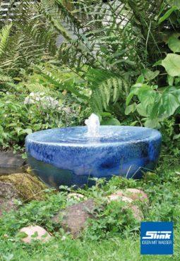 Keramik-Gartenbrunnen Meereshalbkugel