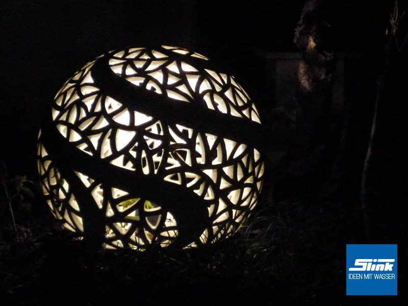 Keramik-Gartenleuchte Leuchtkugel
