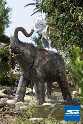 Bronzefigur Baby-Elefant