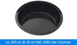 GFK-Teichbecken Wasserbecken rund 195 cm, 45 cm 1020 Liter