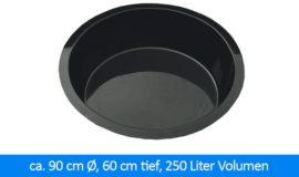 GFK-Teichbecken Wasserbecken rund 90 cm, 60 cm 250 Liter