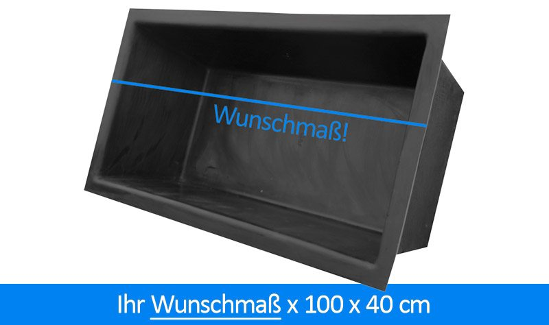gfk teichbecken wasserbecken rechteckig ca 100 cm breit 40 cm tief l nge nach wunschma. Black Bedroom Furniture Sets. Home Design Ideas