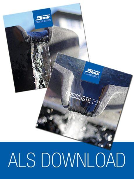 Katalog-Download Gartenbrunnen, Wasserobjekte, Wasserbecken