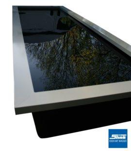 Beckenrandabdeckung Aluminium für GFK-Wasserbecken mit Wunschlänge bis 400 cm