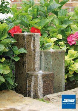 Gartenbrunnen Föhr 3 3-Terrakottasäulen
