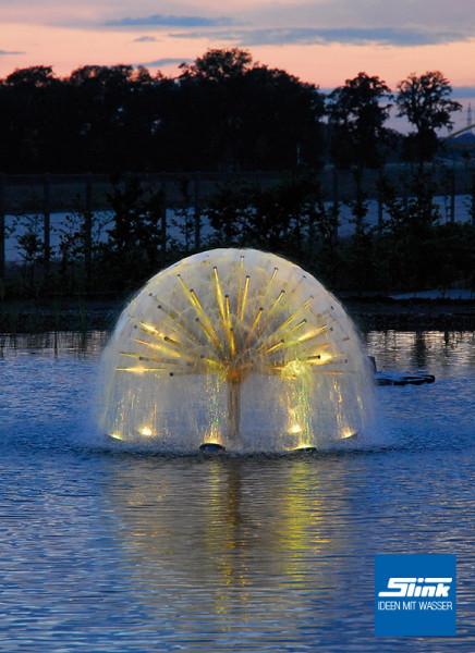 Edelstahlbrunnen wasser halbkugel wasser kugel slink ideen mit wasser for Gartenbrunnen kugel