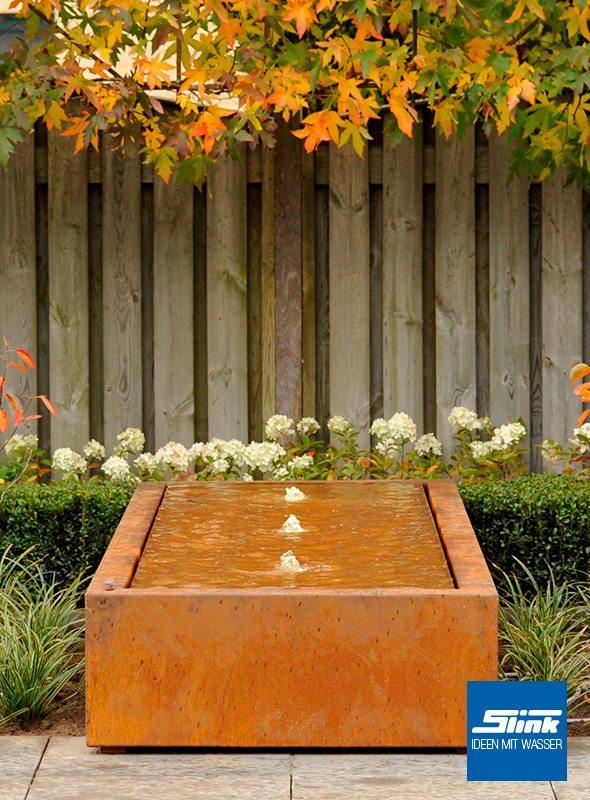Ideen Mit Wasser | Gartenbrunnen, Wasserbecken & Gartenambiente Cortenstahl Garten Terrasse Produkte