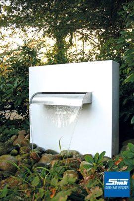 Wasserfall Aluminium-Gartenbrunnen Stele Ella Whitewater Wasserfall