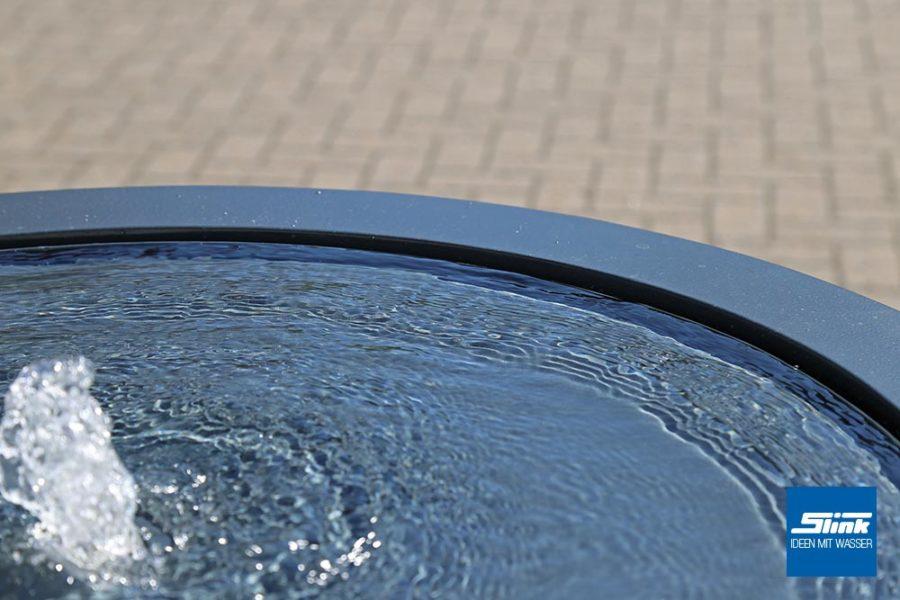 Terrassenbrunnen, Gartenbrunnen, Zimmerbrunnen, Aluminiumbrunnen, rund, Wassertisch