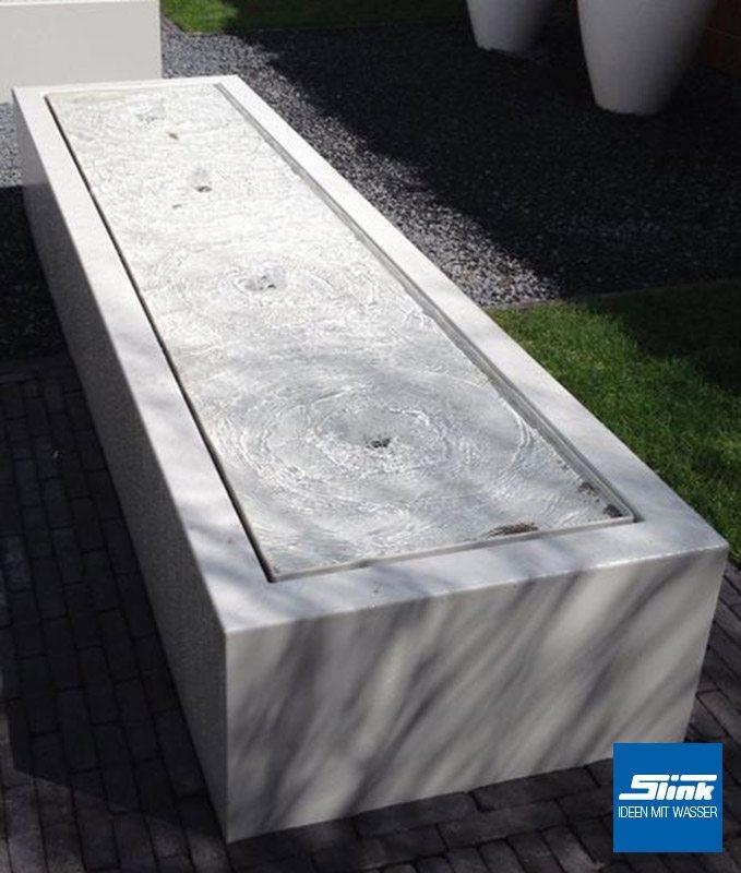 Springbrunnen Aluminium-Rechteck-Tisch