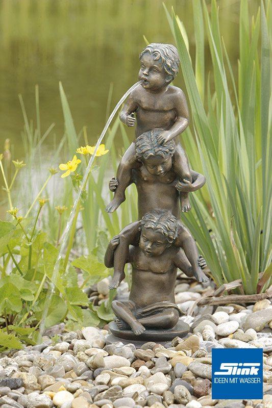 Wasserobjekt Bronzefigur Drei Lausbuben