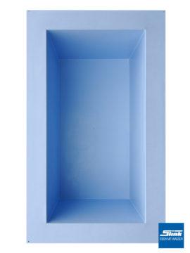 GFK-Teichbecken Wasserbecken rechteckig 307 x 180 x 130 cm – hellblau