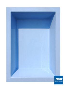 GFK-Teichbecken Wasserbecken rechteckig 240 x 180 x 52 cm – hellblau