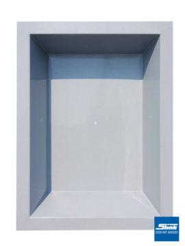 GFK-Teichbecken Wasserbecken rechteckig 240 x 180 x 52 cm – hellgrau