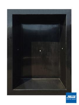 GFK-Teichbecken Wasserbecken rechteckig 240 x 180 x 52 cm – schwarz