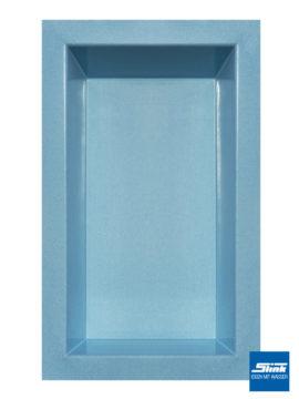 GFK-Teichbecken Wasserbecken rechteckig 300 x 180 x 52 cm – hellblau