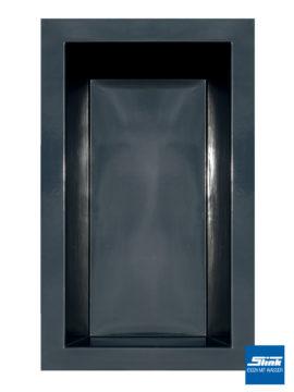 GFK-Teichbecken Wasserbecken rechteckig 300 x 180 x 52 cm – schwarz