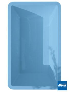 GFK-Teichbecken Wasserbecken rechteckig 386 x 236 x 100 cm – hellblau