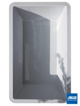 GFK-Teichbecken Wasserbecken rechteckig 386 x 236 x 100 cm – hellgrau