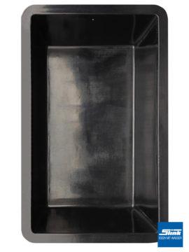 GFK-Teichbecken Wasserbecken rechteckig 386 x 236 x 100 cm – schwarz