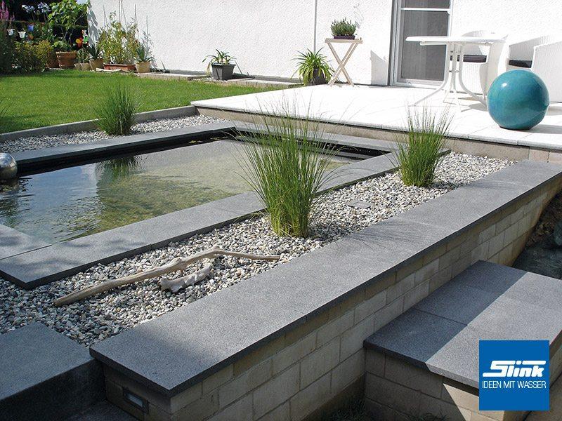 GFK-Teichbecken Wasserbecken rechteckig 240 x 200 x 60 cm 2300 Liter ...