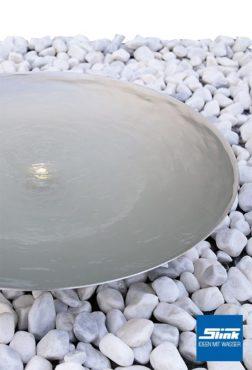 Gartenbrunnen Edelstahl-Wasserschale