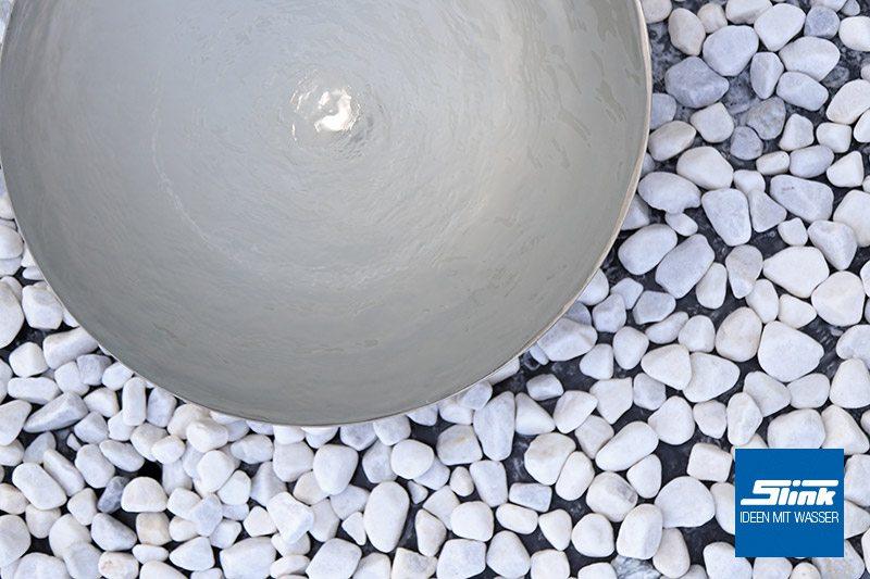 Edelstahl-Wasserschale Gartenbrunnen Schale aus Edelstahl Edelsthlbrunnen Zen-Schale japanischer Brunnen V2A
