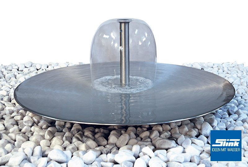 gartenbrunnen glocken wasserschale edelstahl slink. Black Bedroom Furniture Sets. Home Design Ideas