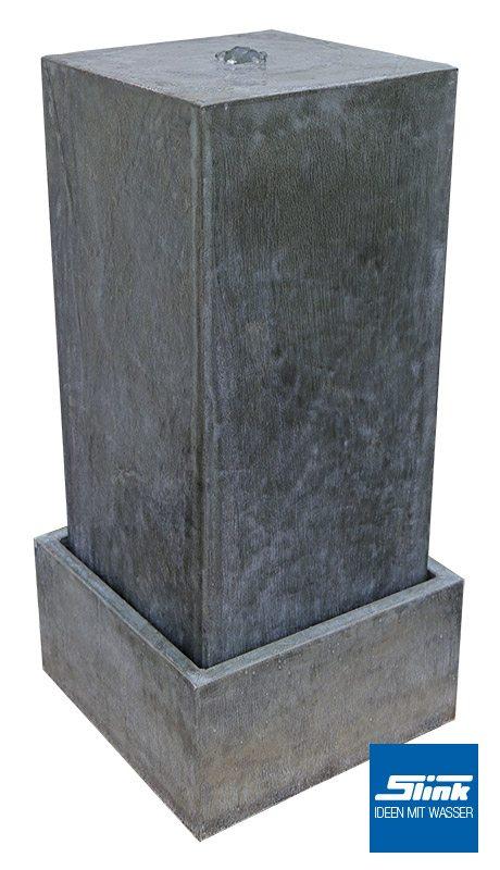 Säulenbrunnnen aus Zink Zinkbrunnen für den Garten und für die Terrase Wasserspiel Design