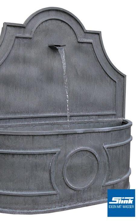 Wandbrunnen aus Zink Zinkbrunnen mit Wasserauslauf verziert Gartenbrunnen Springbrunnen Wasserspiel Gartengestaltung