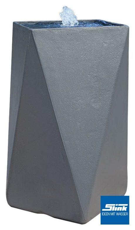 Wasserobjekt geometrisch moderner Gartenbrunnen für Terrasse oder als Zimmerbrunnen betonoptik Designerbrunnen
