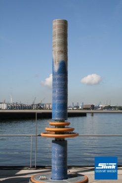 Wasserobjekt Keramik-Säule Arty