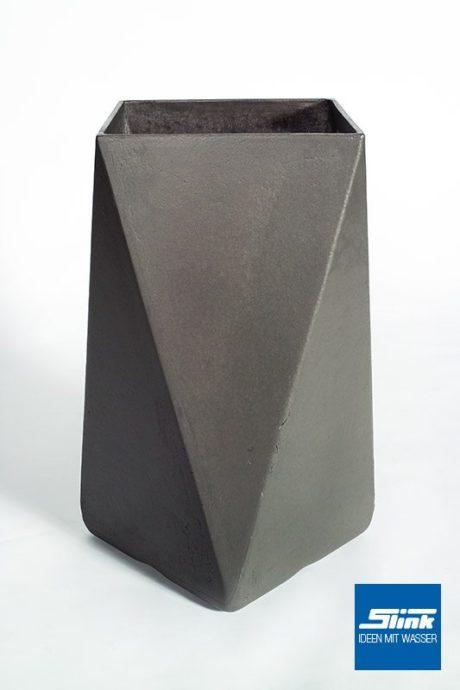 Designer-Pflanzgefäß Arrow geometrischer moderner Pflanzkübel Eternit Swisspearl Gartendesign betonoptik Gartengestaltung