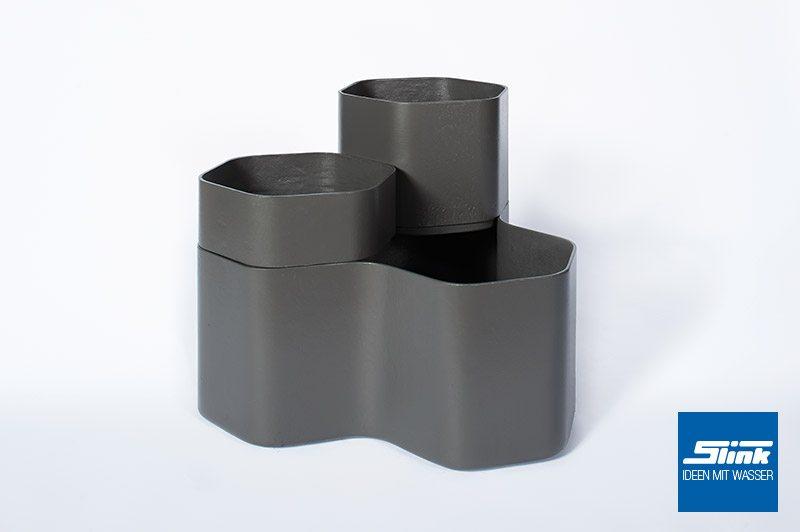 Designer-Pflanzgefäß Landing Pflanzkübel Eternit Swisspearl Gartendesign betonoptik Gartengestaltung