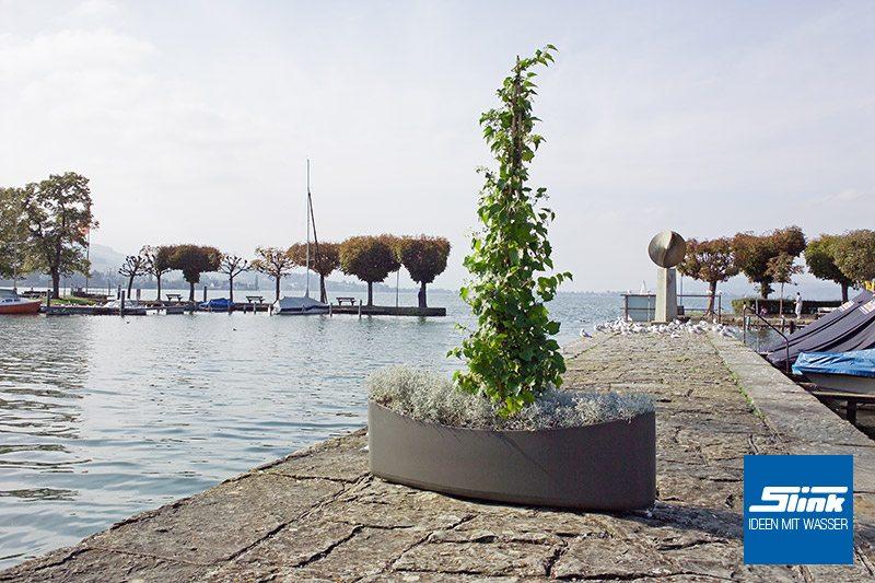Designer-Pflanzgefäß Plantship Pflanzschale Eternit Swisspearl Gartendesign betonoptik Gartengestaltung