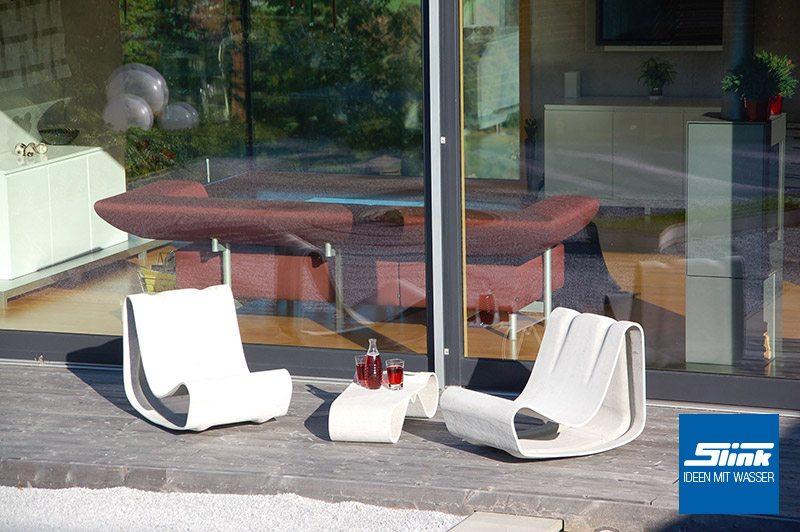 Willy Guhl Strandsessel Gartensessel Lounge Gartentisch Eternit Swisspearl Gartenmöbel Design